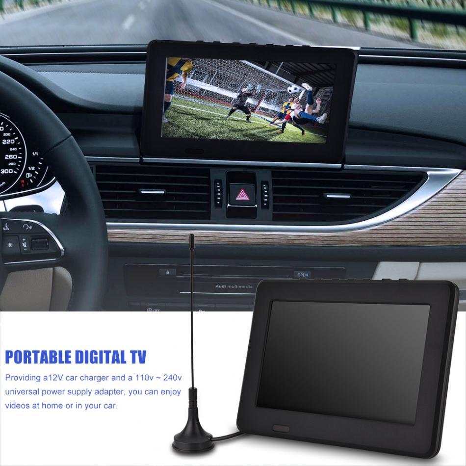 [해외]LEADSTAR ISDB-T 7 인치 TV 충전식 디지털 컬러 TV 플레이어 TFT-LED 스크린 디지털 아날로그 텔레비전 지원 1080p 비디오/LEADSTAR ISDB-T 7 Inches TV Rechargeable Digital Color TV Player