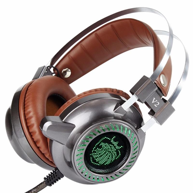 [해외]Cosonic V2 스틸 시리즈 게이밍 헤드셋 스테레오 이어폰 HiFi 헤드폰 LuminousMicrophone 컴퓨터의 PC 게이머 용 LED 라이트/Cosonic V2 Steel Series Gaming Headset Stereo Earphone HiFi H