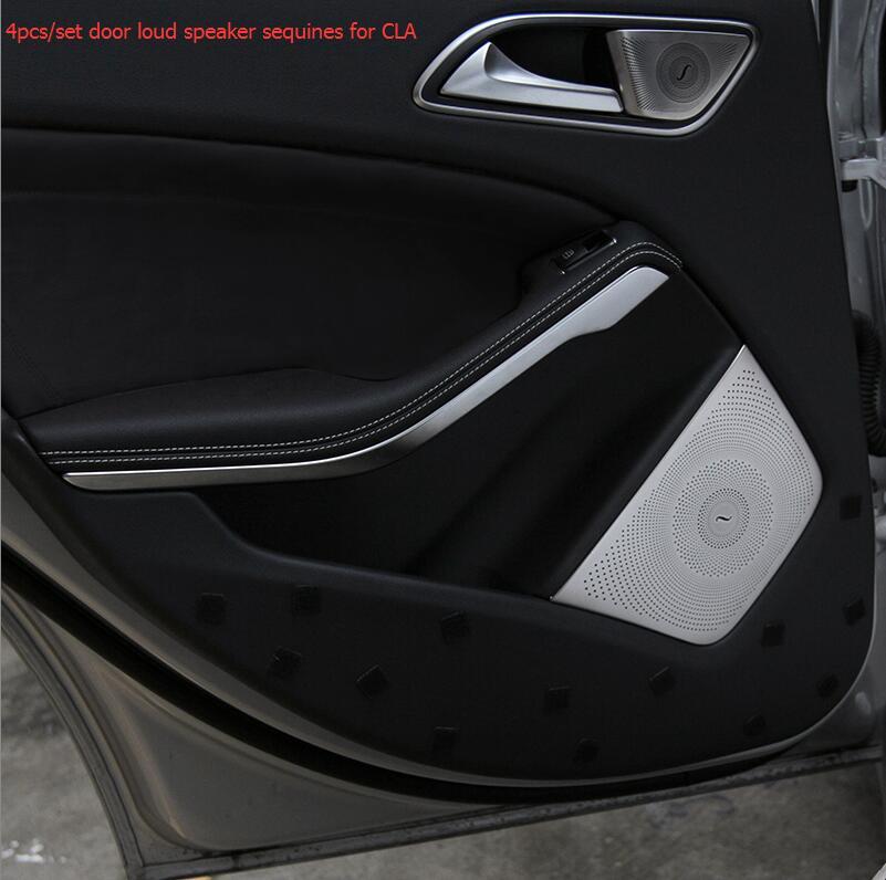 [해외]메르세데스 - 벤츠 CLA 용 최고급 4 피스 / 차량용 커버 스피커 커버 /Free shipping top quality 4pieces/set car louder speakers cover for Mercedes-Benz CLA