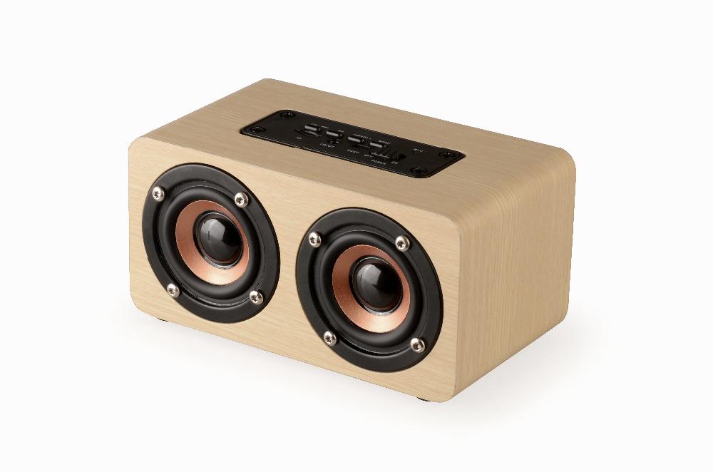 [해외]무선 블루투스 스피커 목재 휴대용 오디오 HiFi 홈 씨어터 사운드 수신기 스테레오 음악 서브 우퍼 컴퓨터 스피커/Wireless Bluetooth Speaker Wood Portable Audio HiFi Home Theatre Sound Receiver St