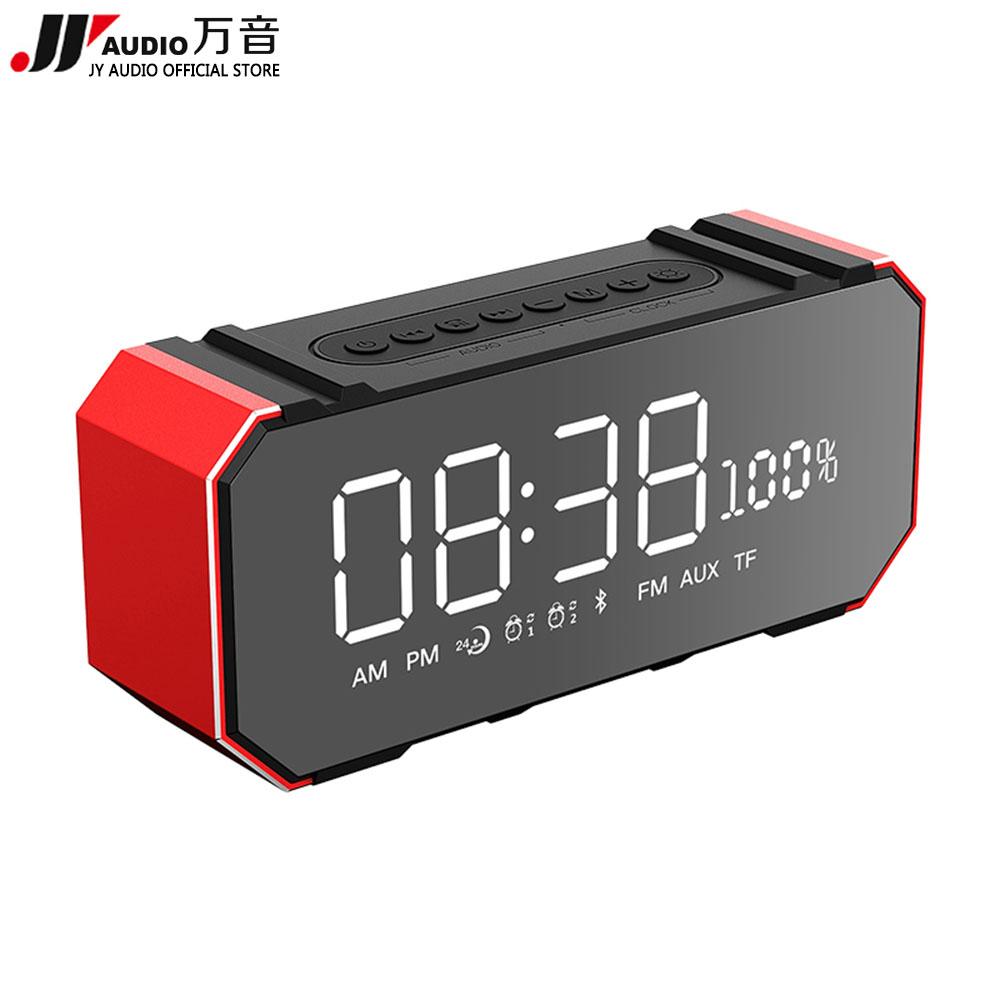 [해외]JY 오디오 F1 휴대용 휴대용 블루투스 스피커 라디오 FM 알람 시계 RadioUSB AUX TF 마이크 컴퓨터 무선 Bleutooth 스피커/JY AUDIO F1 Portable Led Bluetooth Speaker Radio FM Alarm Clock R