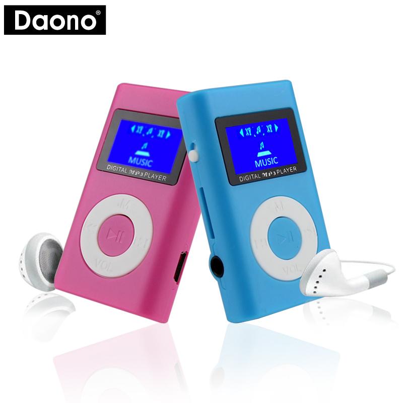 [해외]액세서리없이 DAONO USB 미니 LCD 화면 휴대용 지원 32 기가 바이트 마이크로 SD TF 카드 MP3 플레이어 지원/DAONO USB Mini LCD Screen Portable Support 32GB Micro SD TF Card MP3 Player