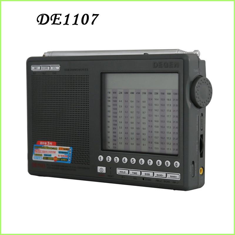 [해외]DEGEN DE1107 DIGITAL CLOCK FM / AM / SW MULTI BAND 라디오 매니아는 모든 밴드 휴대용 보조 주파수 스테레오 포인터/DEGEN DE1107 DIGITAL CLOCK FM/AM/SW MULTI BAND RADIO enthusi