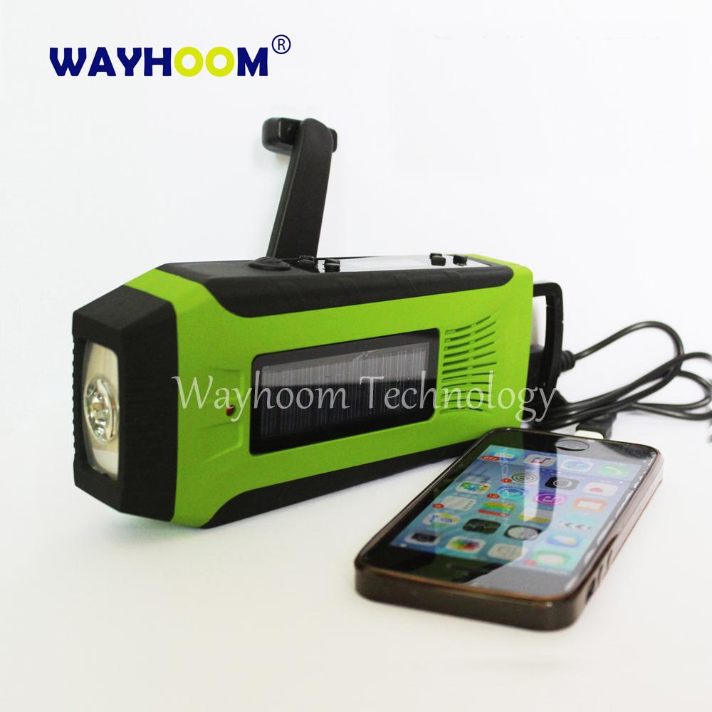 [해외]AM / FM 라디오 핸드 크랭크 충전기 태양 광 발전 라디오 2000MAH 비상 USB 전화 충전기/AM/FM Radio Hand Crank Charger Solar Power Radio 2000mAh Emergency USB Phone Charger