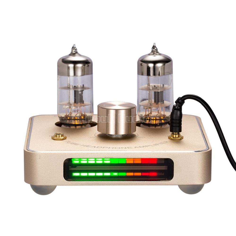 [해외]리틀 베어 P2 골드 6C11 튜브 밸브 헤드폰 앰프 ampLED VU 미터/Little Bear P2 Gold 6C11 tube valve headphone amplifier ampLED VU meter