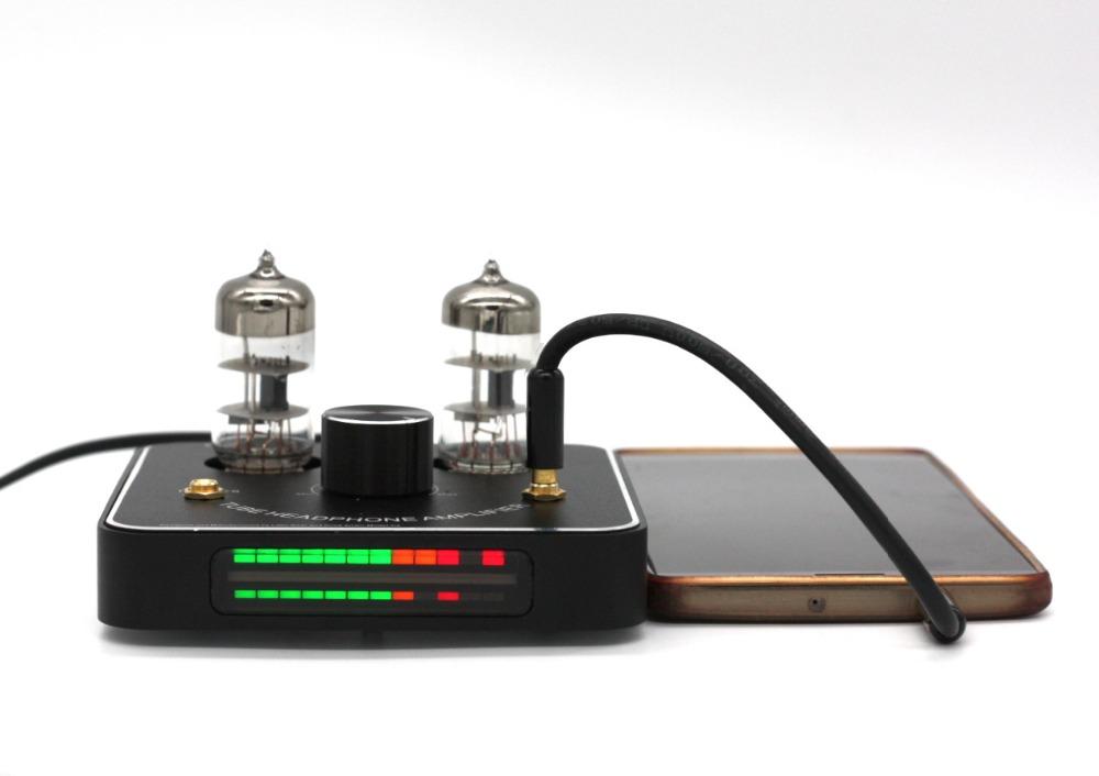 [해외]리틀 베어 P2 블랙 6C11 튜브 밸브 헤드폰 앰프 ampLED VU 미터/Little Bear P2 Black 6C11 tube valve headphone amplifier ampLED VU meter