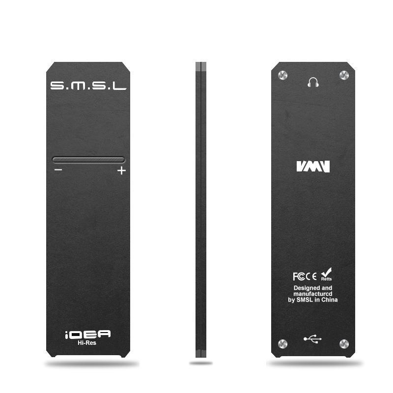 [해외]S.M.S.L SMSL iDEA HiFi 오디오 휴대용 USB DAC 및 헤드폰 앰프 DSD512 32 비트 768kHz DAC 검정 회색 빨강/S.M.S.L SMSL iDEA HiFi Audio Portable USB DAC and headphone Ampli