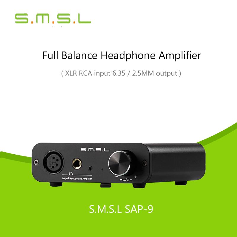 [해외]SMSL SAP-9 HIFI 클래스 A 풀 밸런스드 디지털 오디오 스테레오 헤드폰 앰프 TPA6120A2 RCA / XLR 헤드폰 앰프 밸런스 입력/SMSL SAP-9 HIFI Class A Full Balanced Digital Audio Stereo Head