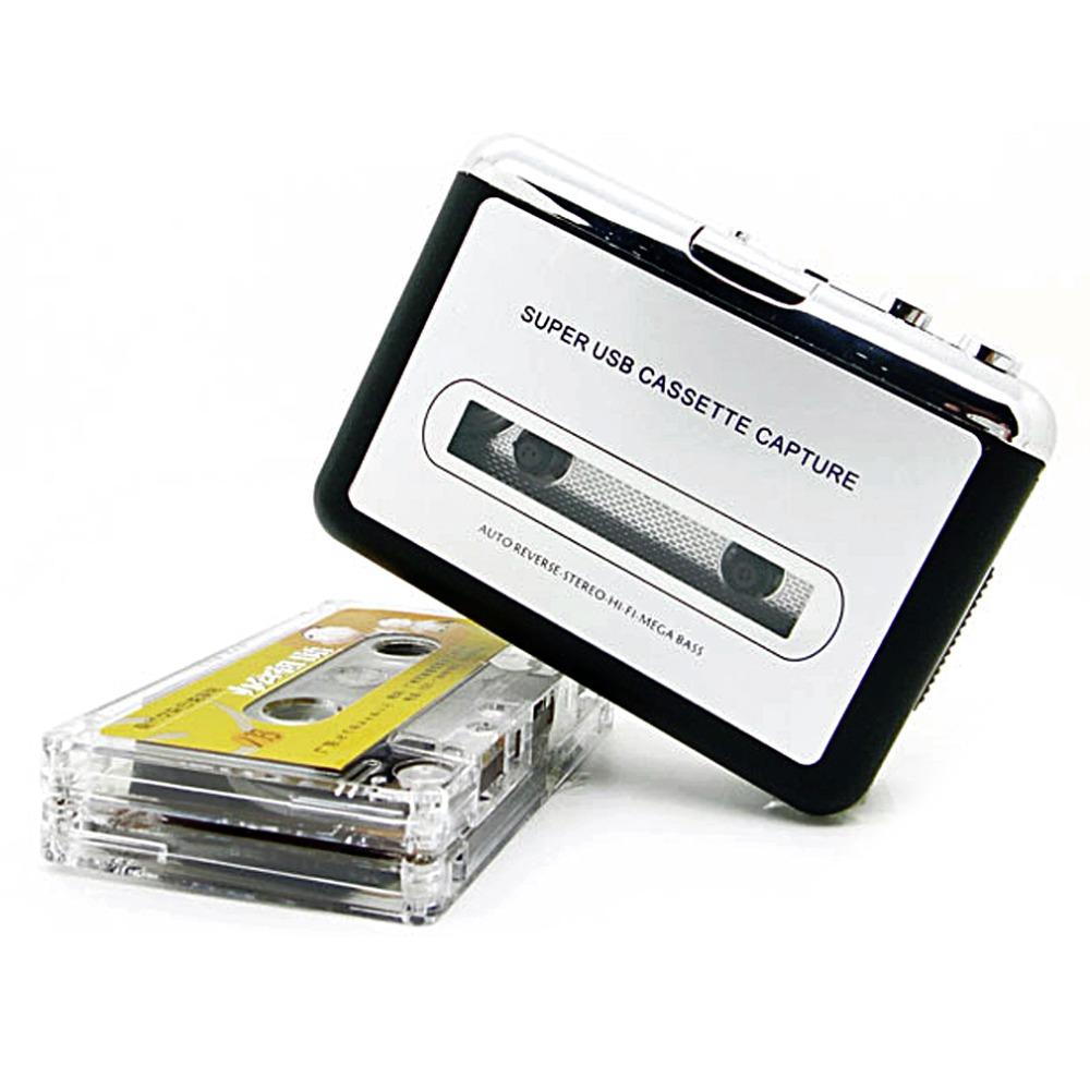 [해외]뜨거운 새로운 USB 2.0 휴대용 테이프 PC에 슈퍼 카세트 MP3 오디오 음악 CD 디지털 플레이어 변환기 캡처 레코더 + 헤드폰/Hot New USB 2.0 Portable Tape to PC Super Cassette To MP3 Audio Music C