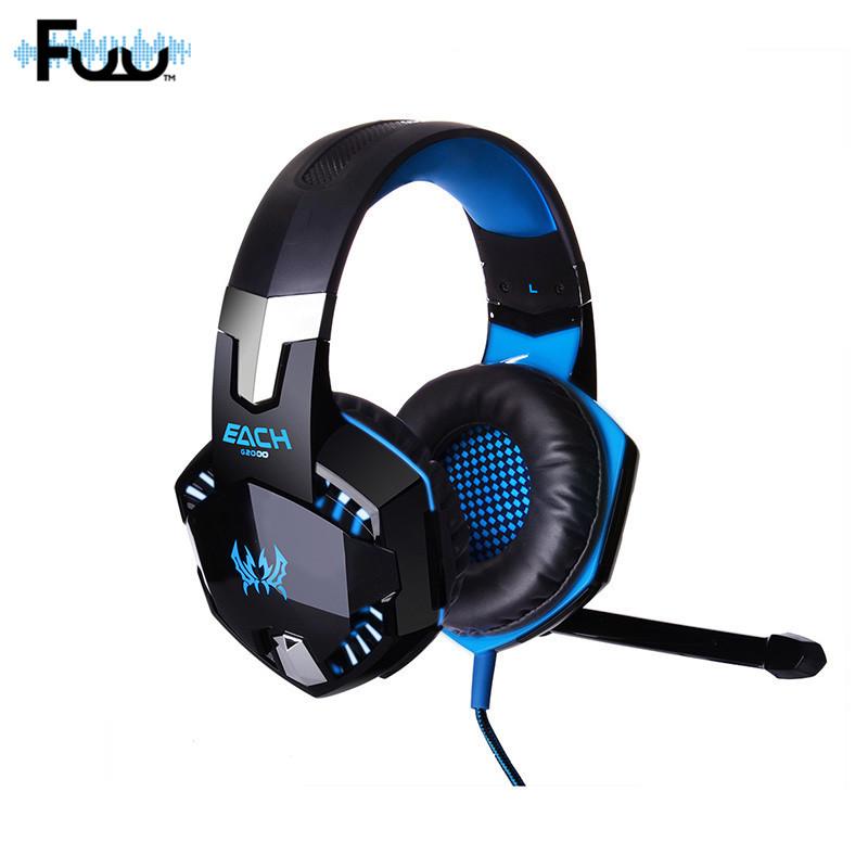 [해외]게임용 헤드폰 스테레오 서라운드 사운드 헤드폰 게임용 헤드셋 EarphoneLed Light for PC 노트북 컴퓨터 휴대 전화/Game Headphone Stereo Surrounded Sound headphones Gaming Headset Earphone