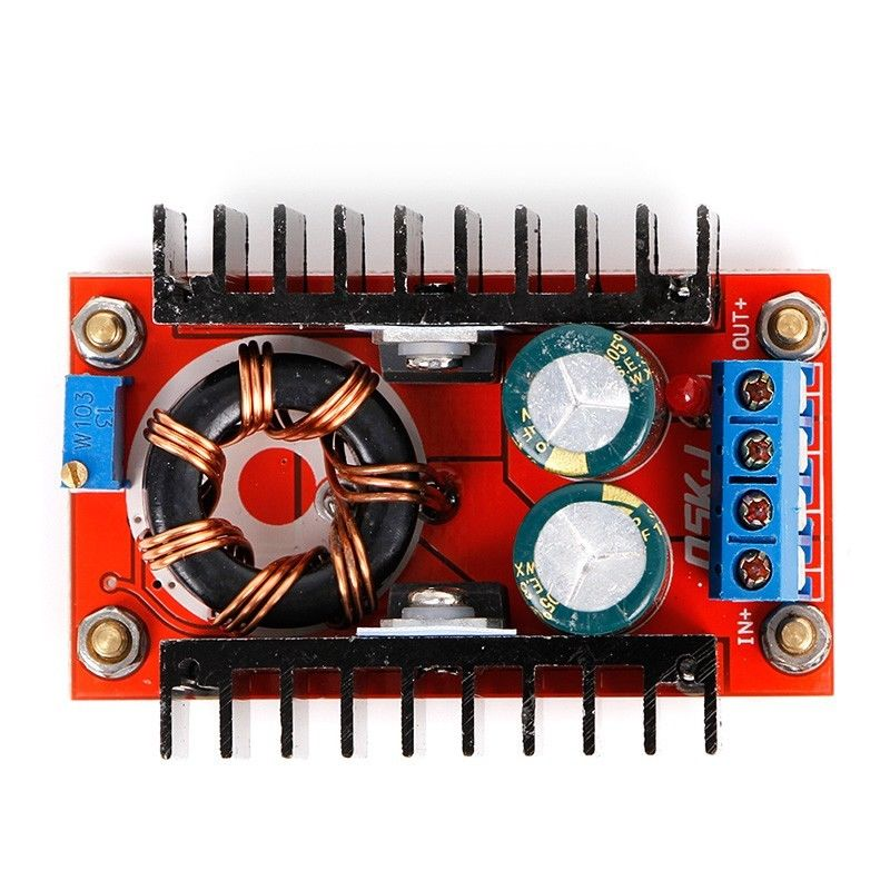 [해외]DC-DC 부스트 컨버터 10V-32V ~ 12V-35V 스텝 업 전원 공급 장치 모듈 150W 10A/DC-DC Boost Converter 10V-32V to 12V-35V Step Up Power Supply Module 150W 10A