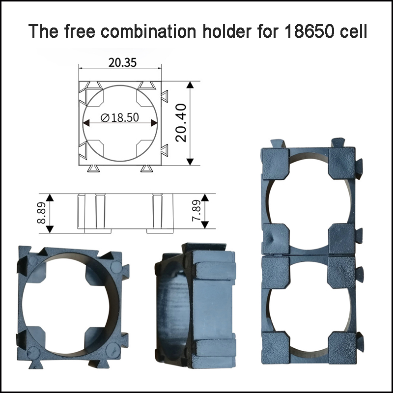 [해외]18650 세포 보호 홀더 & amp; 18650 셀을무료 조합 홀더/18650 cell protection holder & The free combination holder for 18650 cell