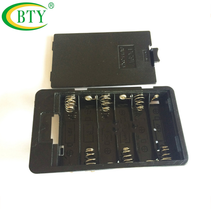 [해외]100pcs AA 9V 배터리 홀더 컨테이너 상자 6 x AA Batteria 케이스 주최자 플라스틱/100pcs  AA 9V Batteries Holder Storage Container Box For 6x AA Batteria Case Organizer Pl