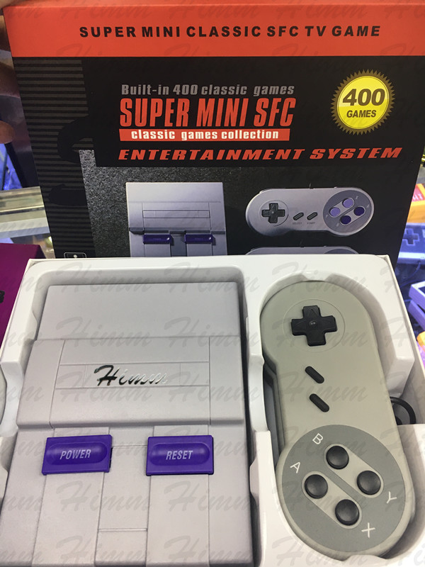 [해외]super MINI 고전적인 소형 게임 선수 가족 텔레비젼 게임 게임 장치 유년기 붙박이 400 Games For nes/super MINI Classic handheld game player Family TV video game console Childhood