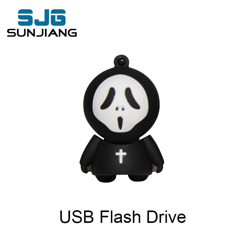 [해외]잔인 사신 USB 플래시 드라이브 16 기가 바이트 4 기가 바이트 8g 32g 64 기가 바이트 맞춤형 만화 pendrive 유령 펜 드라이브 u 디스크 USB 스틱 할로윈 선물/grim Reaper usb flash drive 16gb 4gb 8g 32g 6