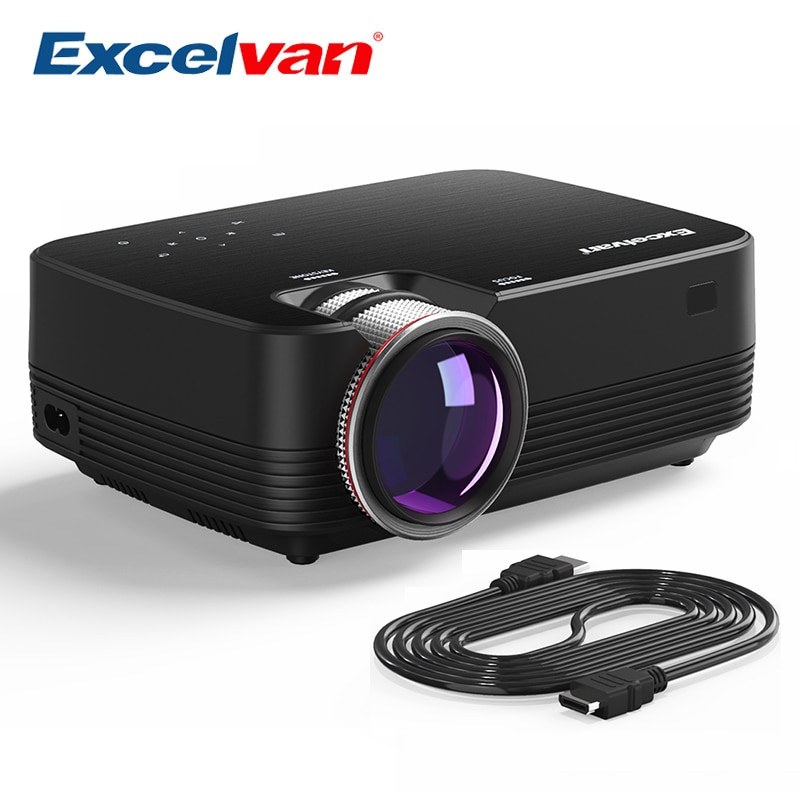 [해외]/Excelvan Q6 Mini Portable LED Projector 1800Lumen Touch Panel Multimedia Video Projecyor Support 1080P HDMI VGA USB Home Theater