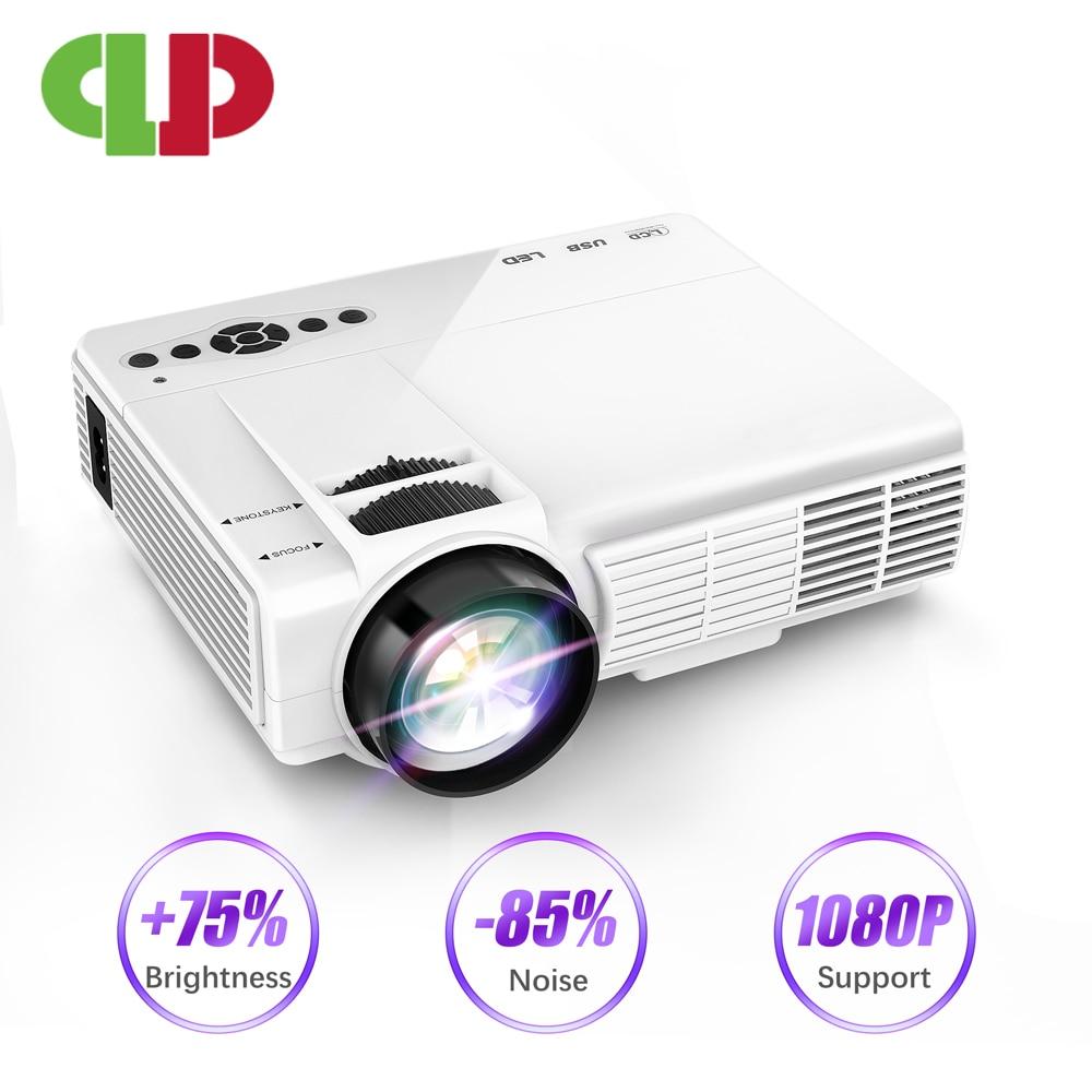 [해외]/Powerful Mini Full HD Projector Q5 Portable LED Projector Home Theatre System Movie Beamer Proyector 안드로이드 Mini Projector