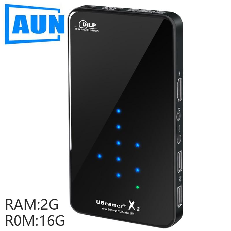 [해외]/AUN LED Projector X2. 3D Beamer. Built in 안드로이드, WIFI/Bluetooth. Mini Projector for Home Cinema. Support 1080P(Optional Voice)