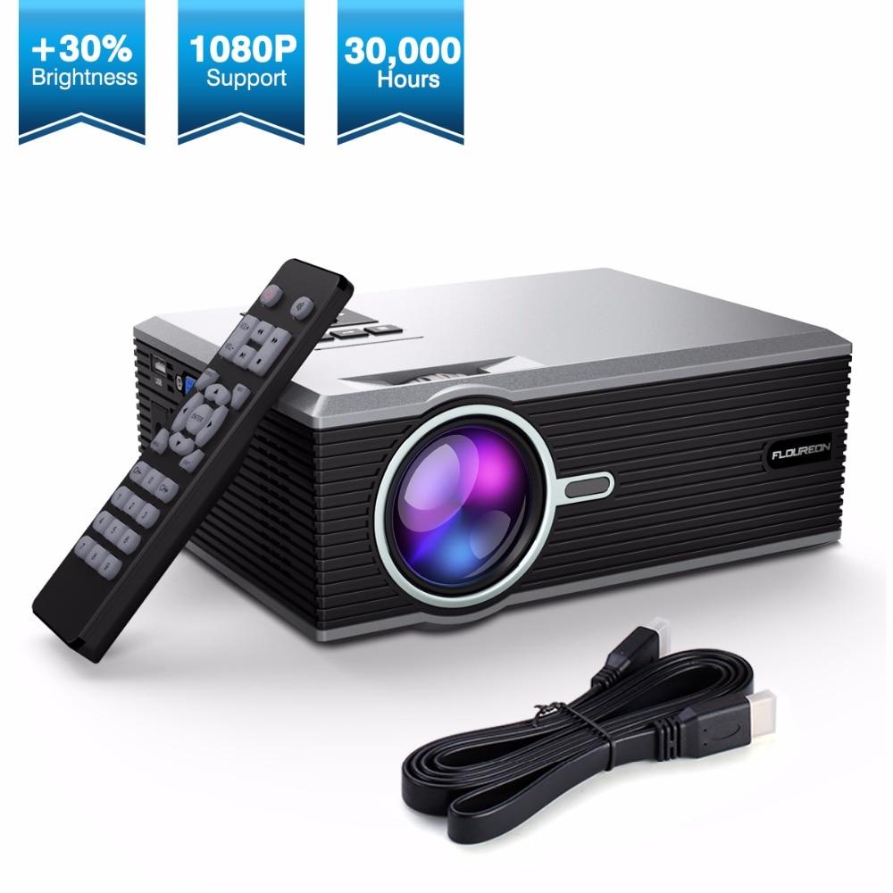 [해외]Exquizon FLOUREON Portable Mini LED Cinema Video Digital HD Home Theater Projector BL88 4K Beamer ProyectorUSB HDMI/Exquizon FLOUREON Portable Min