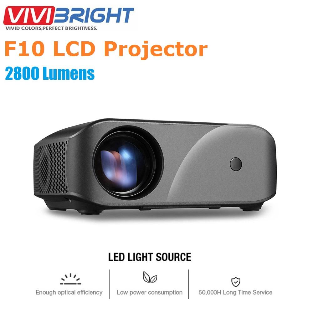 [해외]Vivibright f10 lcd 프로젝터 1080 p 2800 루멘 300 인치 디스플레이 1280x720 p hdmi 홈 프로젝터 (buit-in 스피커 포함)/Vivibright f10 lcd 프로젝터 1080 p 2800 루멘 300 인