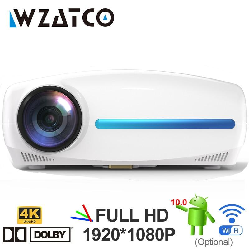 [해외]Wzatco c2 4 k 풀 hd 1080 p led 프로젝터 안 드 로이드 9.0 wifi 스마트 홈 시어터 비디오 proyector 디지털 키스톤 수정/Wzatco c2 4 k 풀 hd 1080 p led 프로젝터 안 드 로이드 9.0 wi