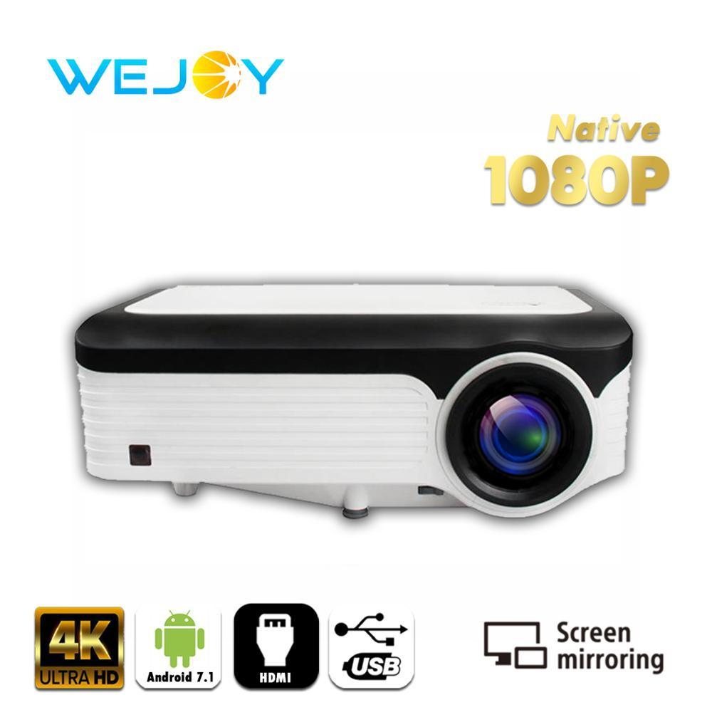 [해외]Wejoy Portable Mini Video LED Projector Full HD 1080P Native Resolution Smart 안드로이드 4K Projector Cinema Movie Home Theatre/Wejoy Portable Mini Vid