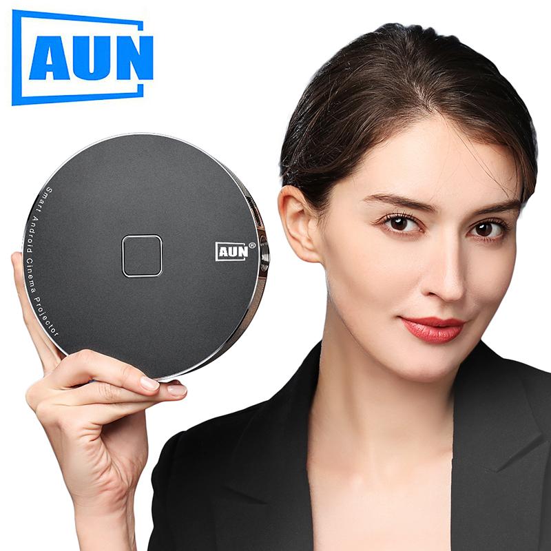 [해외]AUN 안드로이드 Projector D8S, 1280x720 Resolution. 12000mAH Battery.LED Projector Home Cinema. 3D Video Projector, Support 1080P/4K/AUN 안드로이드 Projector