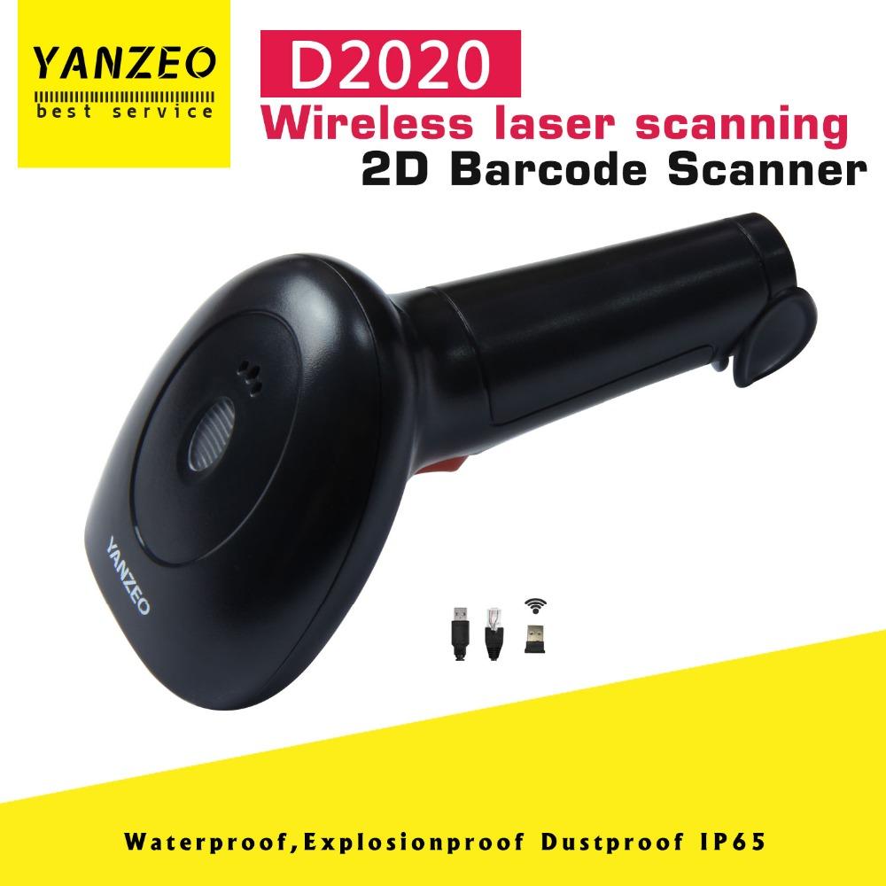[해외]Yanzeo D2020 Wireless 2.4G Handheld  2D USB Laser Barcode Scanners Film Portable Laser High Speed Warrantly 12 Months/Yanzeo D2020 Wireless 2.4G H