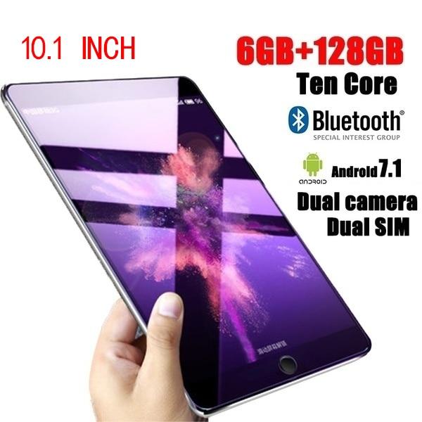 [해외]새로운 태블릿 10.1 인치 10 코어 6g + 16g/64g/128g 안드로이드 8.0 와이파이 태블릿 pc 듀얼 sim 듀얼 카메라 블루투스 4g 와이파이 전화 전화/새로운 태블릿 10.1 인치 10 코어 6g + 16g/64g/128g 안