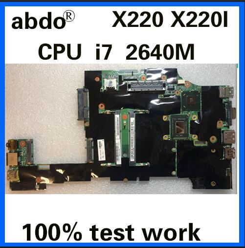 [해외]Abdo CPU i7 2640 M X220 마더 X220 X220I 노트북 마더 보드 FRU 04X1816 04W3382 04W0670 QM67 DDR3 100% 테스트 작업/Abdo CPU i7 2640 M X220 마더 X220 X220I