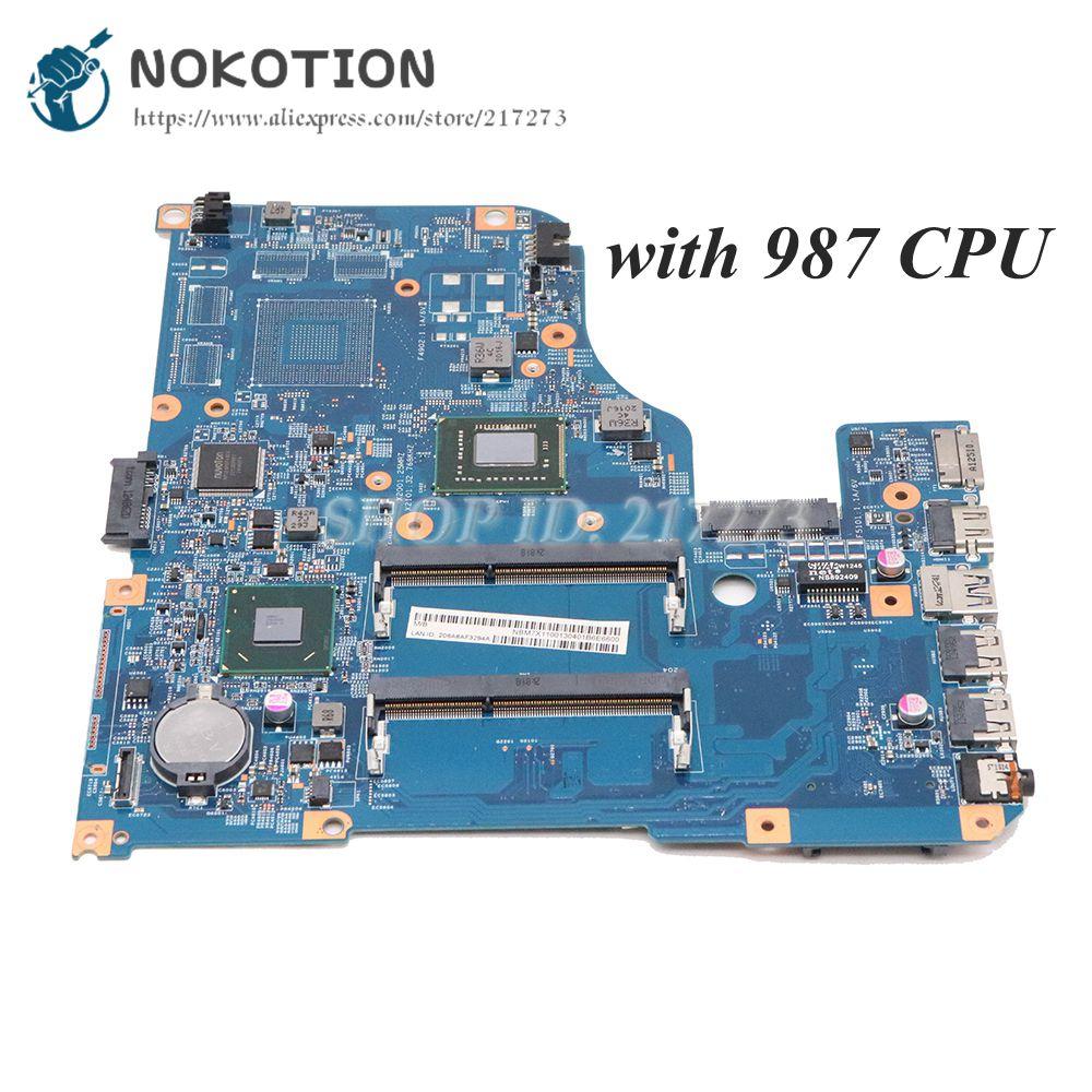[해외]Nokotion 노트북 마더 보드 acer aspire V5-531 V5-431 메인 보드 48.4tu05.04m nbm7x11001 펜티엄 987 cpu 온보드/Nokotion 노트북 마더 보드 acer aspire V5-531 V5-431