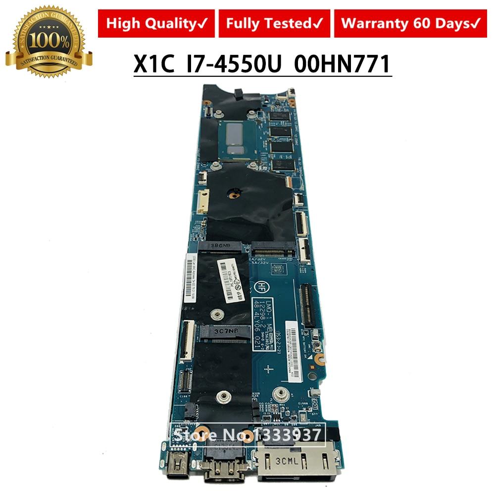 [해외]00hn771 메인 보드 I7-4550U 레노버 씽크 패드 x1c x1 카본 노트북 마더 보드 LMQ-1 mb 12298-2 48.4ly06.021/00hn771 메인 보드 I7-4550U 레노버 씽크 패드 x1c x1 카본 노트북 마더 보드