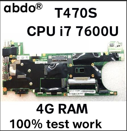 [해외]레노버 씽크 패드 t470s 노트북 마더 보드에 적합 fru 01er076 01er346 01er067 01er338 cpu i7 7600u 4g ram 100% 테스트 작업/레노버 씽크 패드 t470s 노트북 마더 보드에 적합 fru 01er