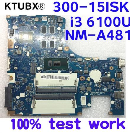 [해외]BMWQ1/BMWQ2 NM-A481 레노버 300-15ISK 노트북 마더 보드 CPU i3 6100U GPU R5 M330 2G DDR3 100% 테스트 작업/BMWQ1/BMWQ2 NM-A481 레노버 300-15ISK 노트북 마더 보드 CPU