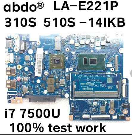 [해외]BIUS4/S5 CIUYO/Y1 LA-E221P 레노버 310S-14IKB 510S-14IKB 노트북 마더 보드 CPU i5 7200U GPU R5 M430 2G 100% 테스트/BIUS4/S5 CIUYO/Y1 LA-E221P 레노버 310S-