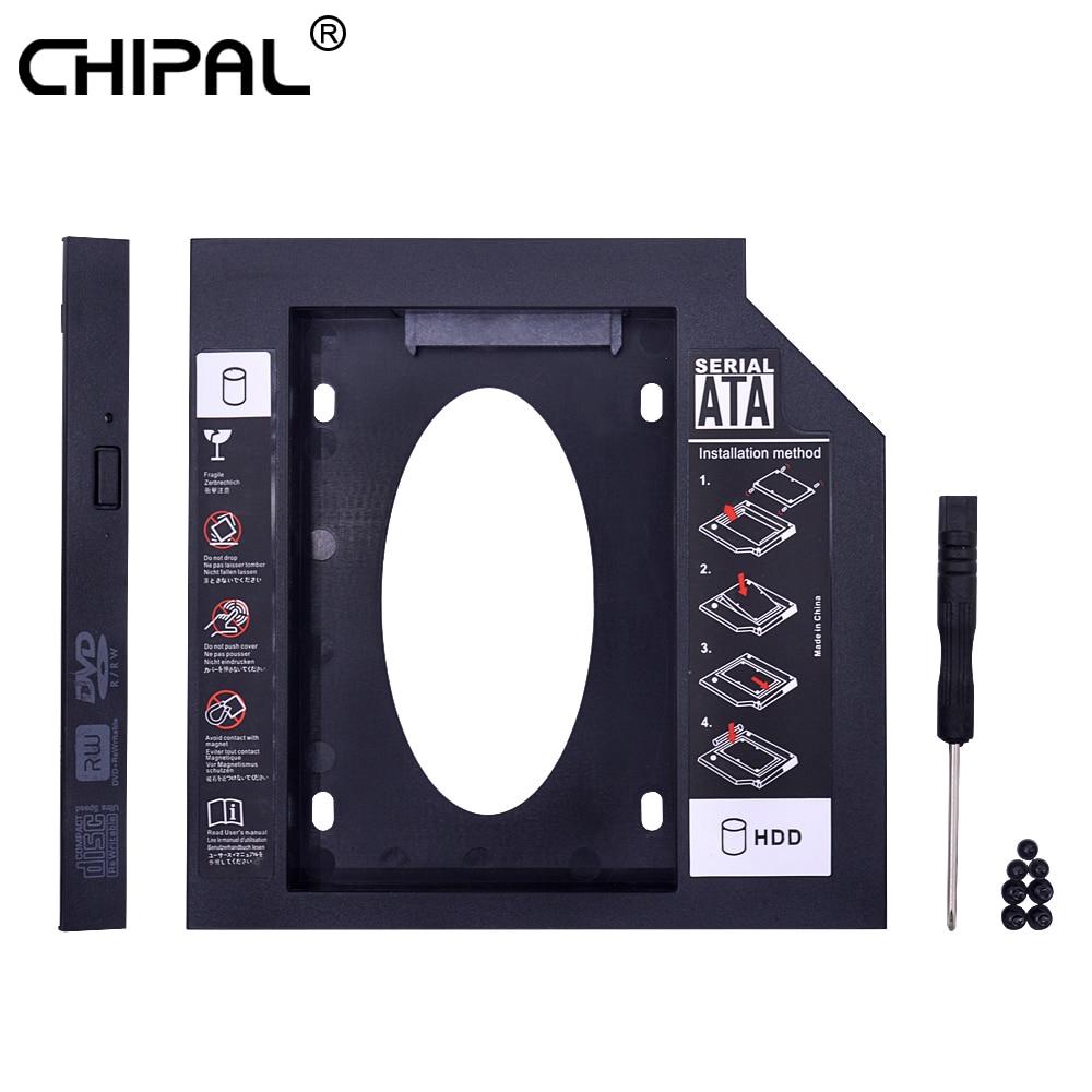 [해외]CHIPAL Universal Second 2nd HDD Caddy 12.7MM SATA 3.0 for 2.5`` SSD Case Hard Disk Drive Adapter for Laptop CD DVD-ROM Optibay/CHIPAL Universal Se
