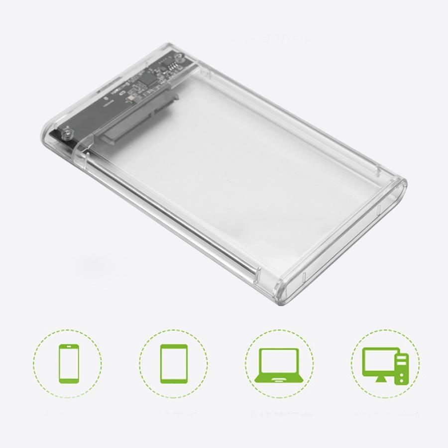 [해외]23s93-rtk 2.5 인치 7-9.5mm sata hdd/ssd 용 휴대용 투명 6 gbps usb3.0 하드 디스크 박스/23s93-rtk 2.5 인치 7-9.5mm sata hdd/ssd 용 휴대용 투명 6 gbps usb3.0 하드 디