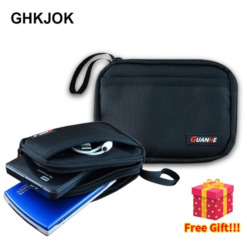 [해외]Original Hard Disk 백 두 번 층 Cable 주최자 백 Carry Case HDD USB Flash Drive Hard Disk Drive Bag Mens & Womens Bag/Original Hard Disk 백 두 번 층 C