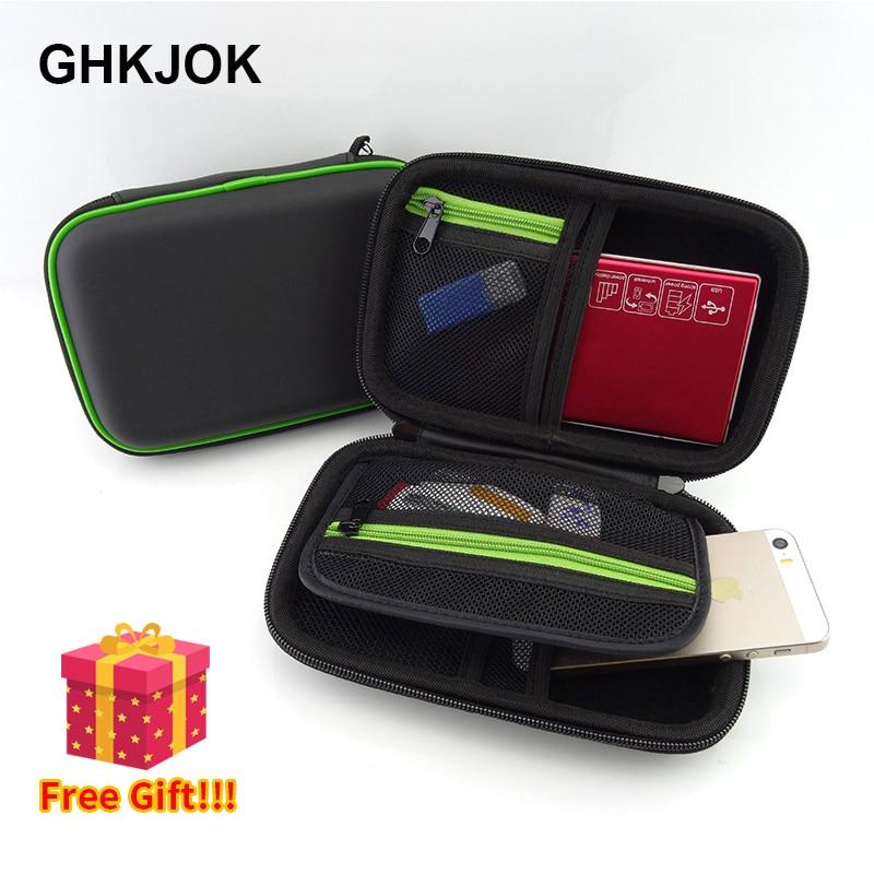 [해외]Newest Power Bank 백 Hard Case 상자 대 한 2.5 Hard Drive 디스크 USB Cable 핸드폰 PSP External Storage 운반 SSD HDD Case/Newest Power Bank 백 Hard Case