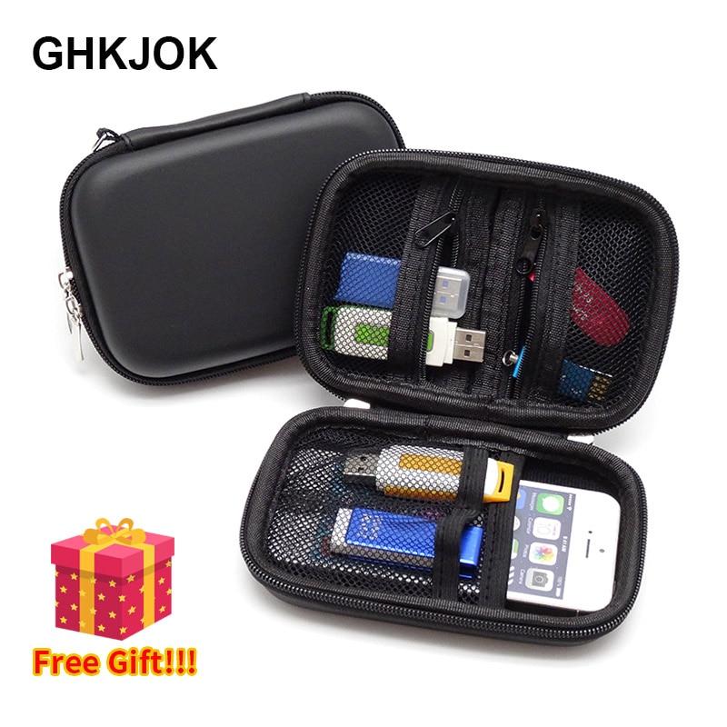 [해외]NEW Hard Case Bag SD Card Holder USB Cable U Disk Bag case 대 한 Mobile 힘 폰 SD card USB flash Drive Case Mini Hdd 상자/NEW Hard Case Bag SD