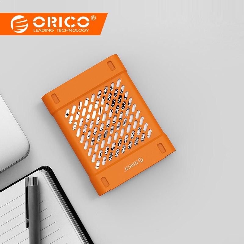 [해외]ORICO Hollow Silicone HDD Protector Box Storage Case Hard Drive bag Portable HDD Case  for 2.5 inch Hard Drive SSD Yellow/ORICO Hollow Silicone HD