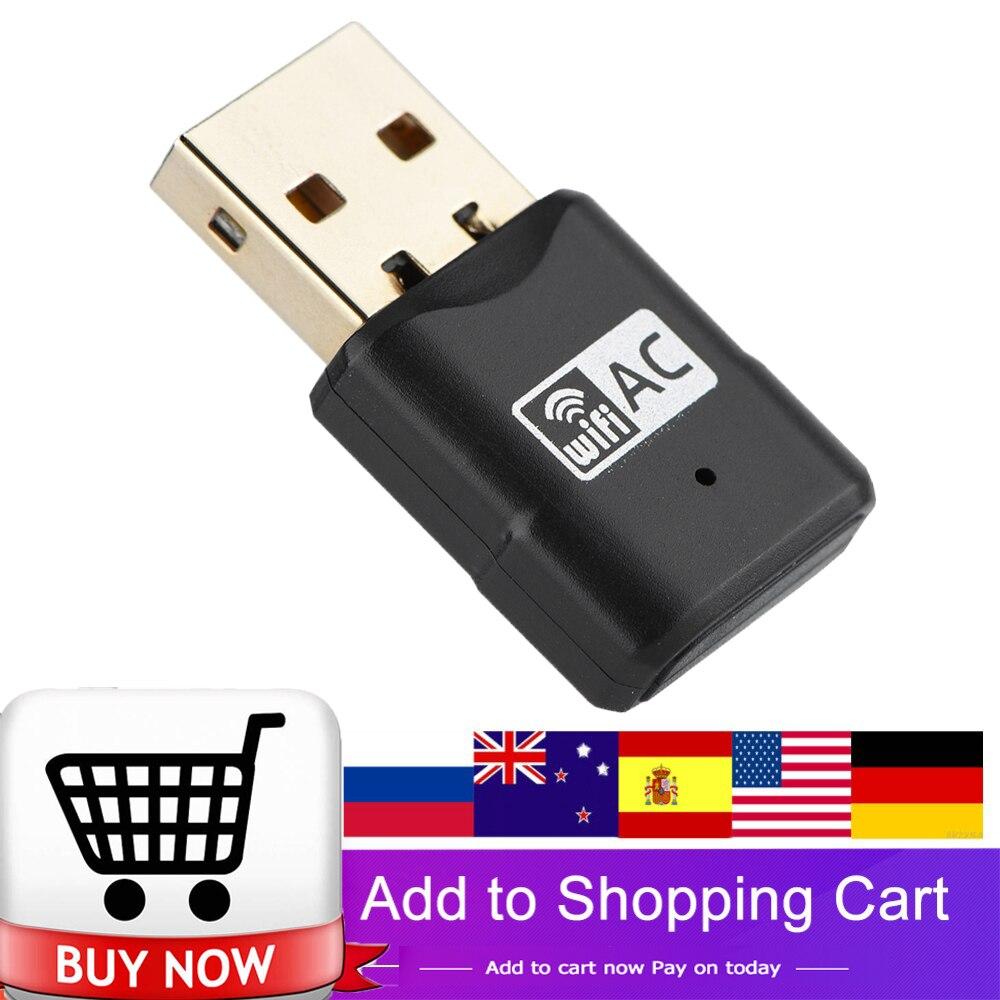 [해외]Wireless 433Mbps USB wifi Adapter AC600 Dual Band 2.4GHz 5.8GHz WiFi Antenna PC Mini Computer Network Card Receiver Portable New/Wireless 433Mbps