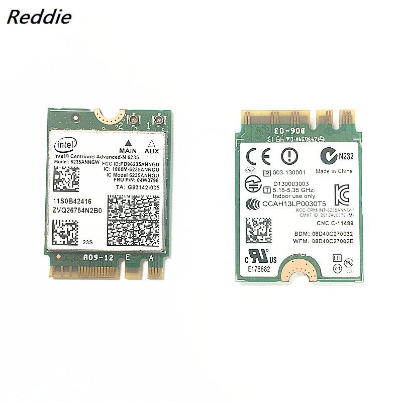 [해외]KHY Genuine New Dual Band 300mbps 6235ANNGW 6235 Wireless+BT 4.0 NGFF WIFI CARD 04W3798 for Lenovo T431S T431SP X230S L440/KHY Genuine New Dual Ba