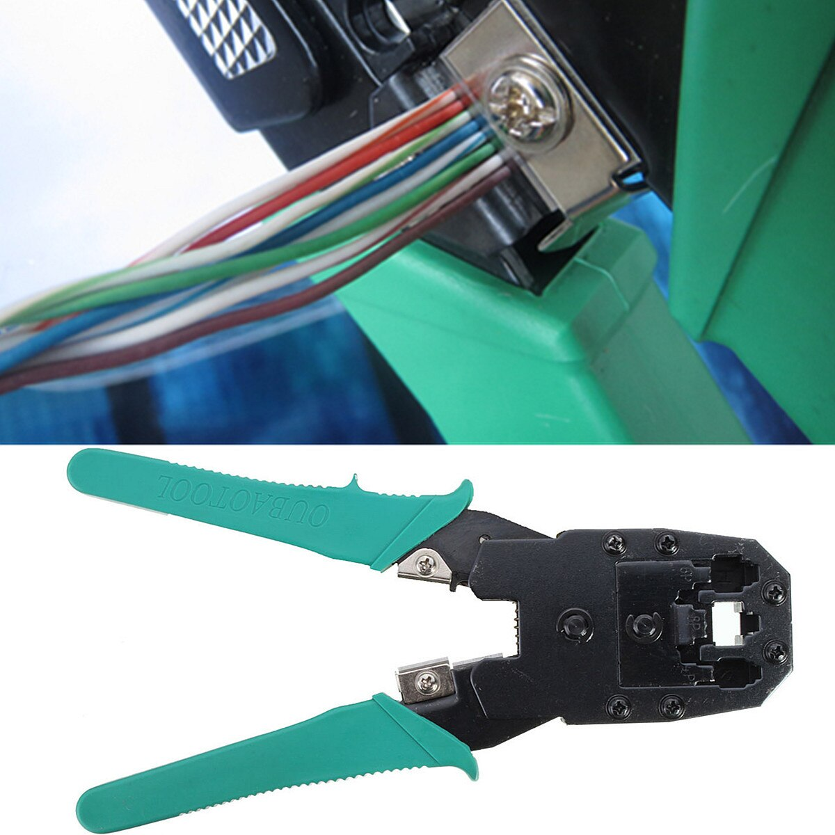 [해외]2Pcs Professional Network Cable Crimper+Wire Stripper For 4/ 6,/8 Poles Modular Connector PC Network Hand Tools Herramientas/2Pcs Professional Net