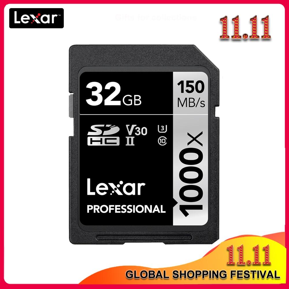 [해외]기존 lexar 256 gb 128 gb sd 카드 1000x UHS-II u3 sdhc sdxc 32 gb 메모리 카드 64 gb carte sd 150 메가바이트/초 class10 cartao de memoria/기존 lexar 256 gb