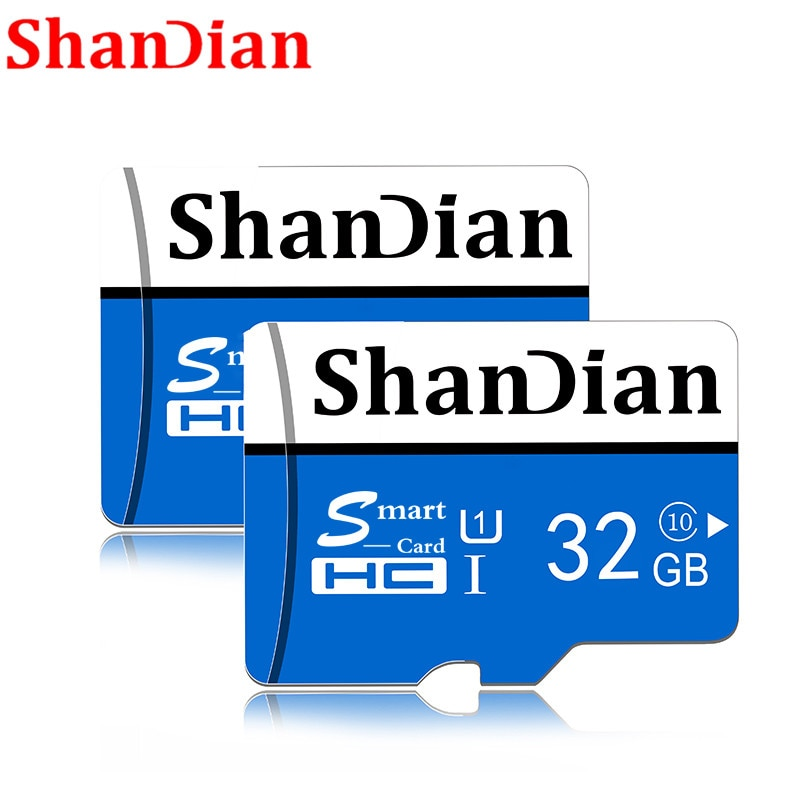 SHANDIAN 마이크로 sd 카드 TF 카드 class10 미니 카드 마이크로 sd 64 기가 바이트 32 기가 바이트 16 기가 바이트 8 기가 바이트 외부 펜 드라이브 플래시 메모리 디스크 전화 번호