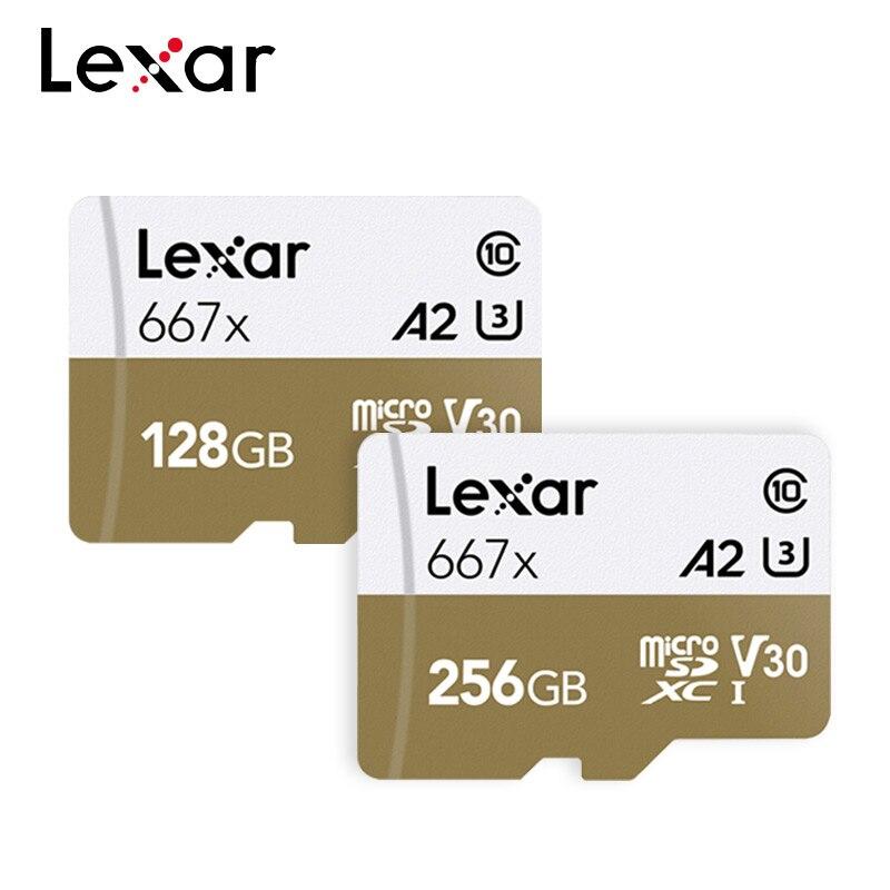 [해외]Lexar Micro SD 카드 667x 메모리 카드 64GB TF 카드 128GB 256GB 100 메가바이트/초 C10 플래시 드라이브 (스마트 폰용)/Lexar Micro SD 카드 667x 메모리 카드 64GB TF 카드 128GB 25