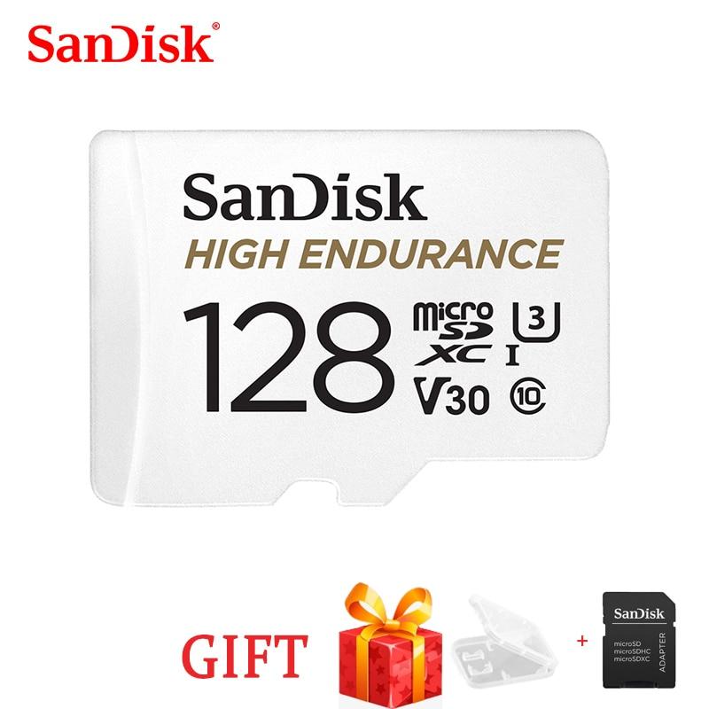 [해외]SanDisk 고 내구성 비디오 모니터링 32GB 64GB 128GB 256GB MicroSD 카드 SDHC/SDXC Class10 비디오 모니터링 용 40 메가바이트/초 TF 카드/SanDisk 고 내구성 비디오 모니터링 32GB 64GB 1