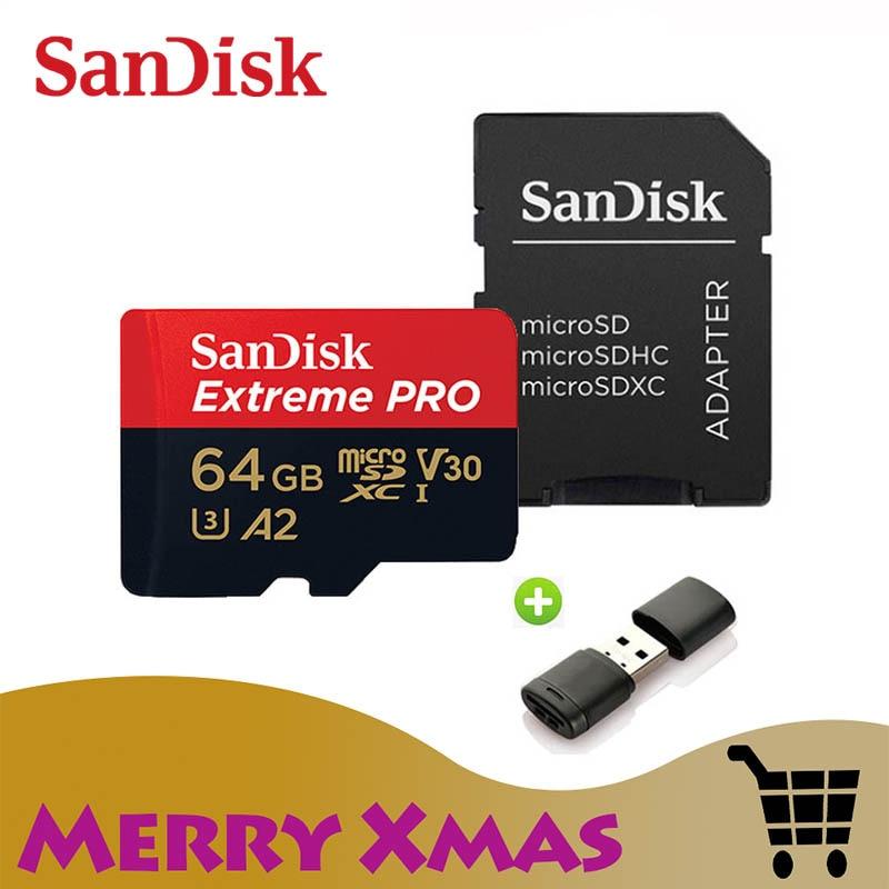 [해외]Sandisk extreme pro 마이크로 sd 카드 a2 64 gb 메모리 카드 128 gb tf 카드 256 gb u3 v30 usb 플래시 (스마트 폰용)/Sandisk extreme pro 마이크로 sd 카드 a2 64 gb 메모리 카
