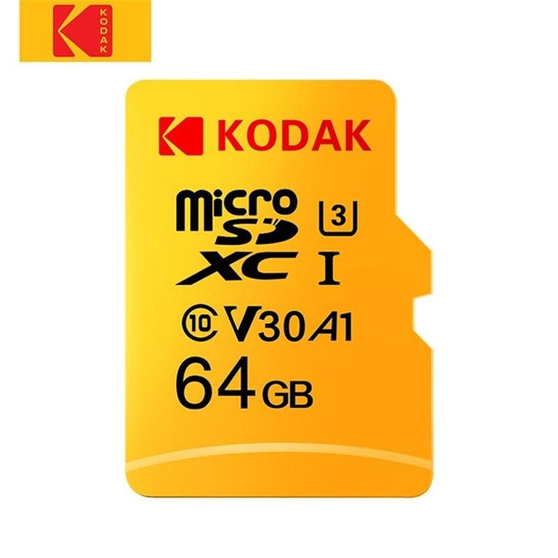 [해외]Kodak u3 메모리 tf 플래시 카드 비디오 및 모바일 스토리지 용 고속 64 gb/128 gb 마이크로 sd 메모리 카드 100 메가바이트/초 읽기 속도/Kodak u3 메모리 tf 플래시 카드 비디오 및 모바일 스토리지 용 고속 64 g